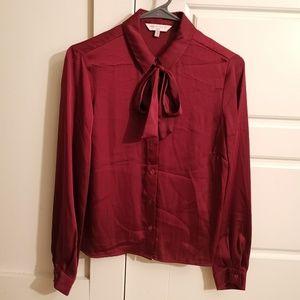 NWOT Marks & Spencer silky blouse wine color sz 6P